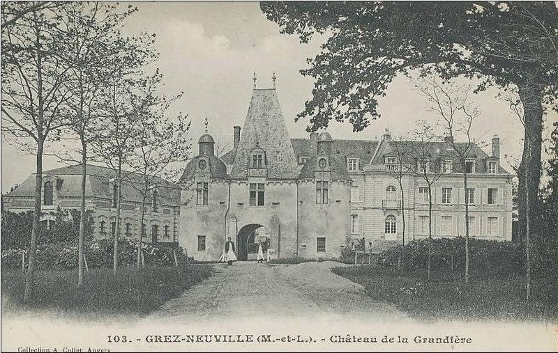 Photo du Monument Historique Château de la Grandière situé à Grez-Neuville