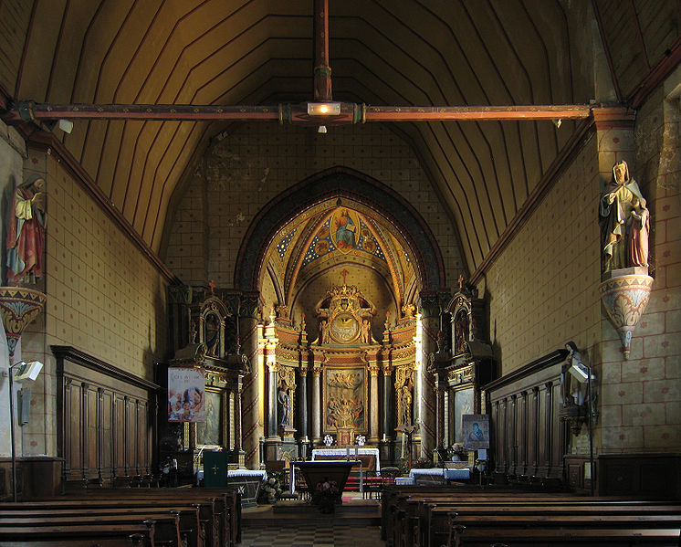 Photo du Monument Historique Eglise et presbytère de Neuville situé à Grez-Neuville