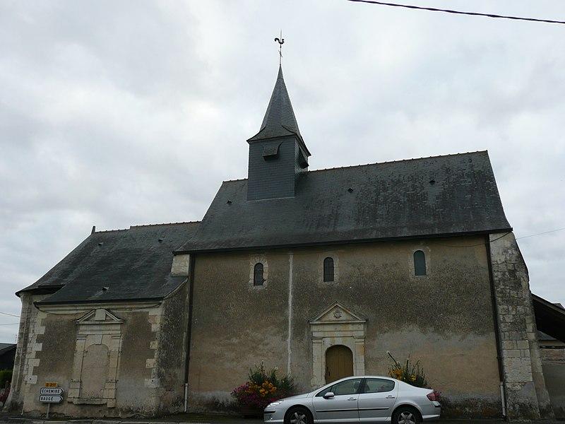 Photo du Monument Historique Eglise Saint-Eutrope et croix du cimetière situé à Montpollin