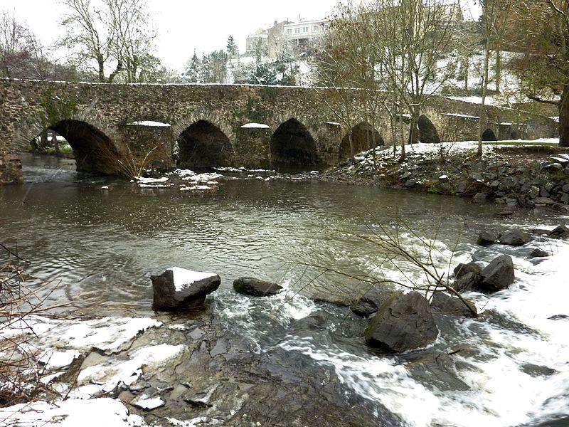 Photo du Monument Historique Pont de Bohardy sur l'Evre situé à Montrevault