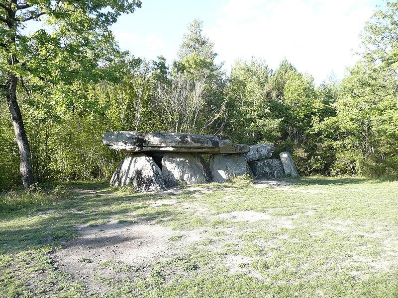 Photo du Monument Historique Dolmen dit de Pierre Couverte situé à Pontigné