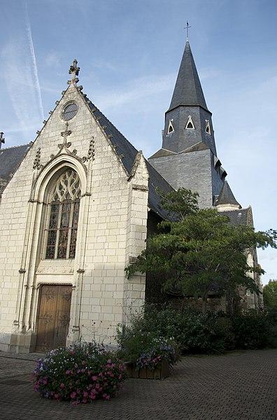 Photo du Monument Historique Eglise Saint-Aubin situé à Les Ponts-de-Cé