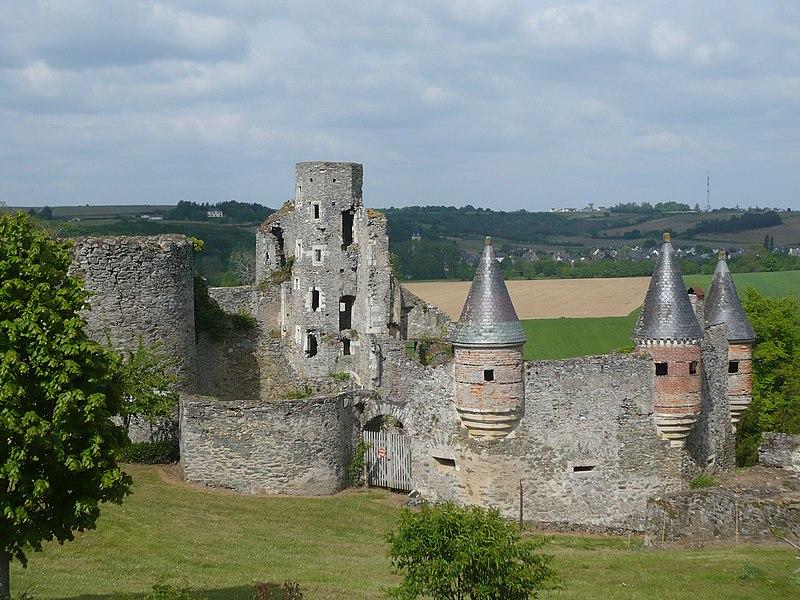 Photo du Monument Historique Château de la Haute-Guerche situé à Saint-Aubin-de-Luigné