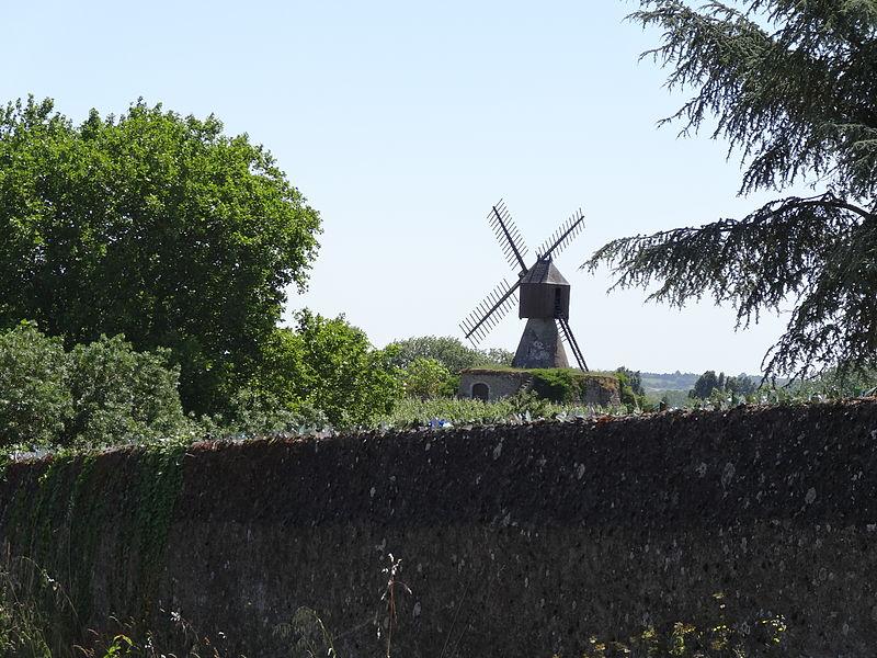 Photo du Monument Historique Moulin à vent du Fresne (ou de la Petite Roche) situé à Savennières