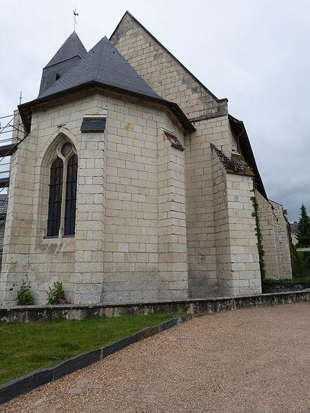 Photo du Monument Historique Eglise Saint-Aubin situé à Turquant