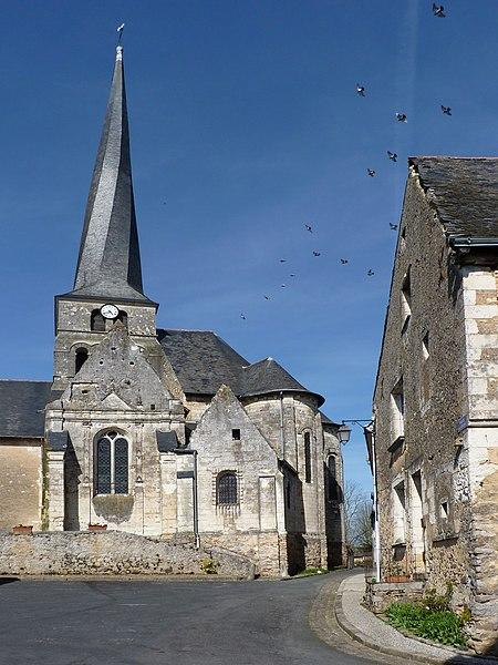 Photo du Monument Historique Eglise situé à Vieil-Baugé (Le)