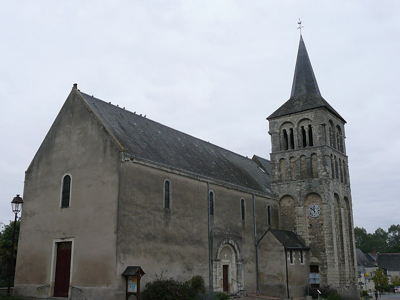 Photo du Monument Historique Eglise et presbytère situé à Villevêque