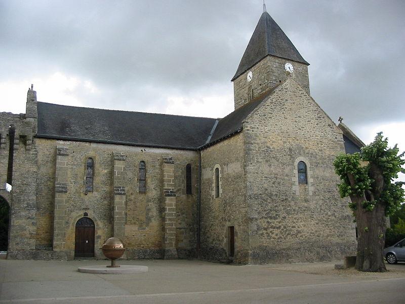Photo du Monument Historique Eglise situé à Aubigné-sur-Layon