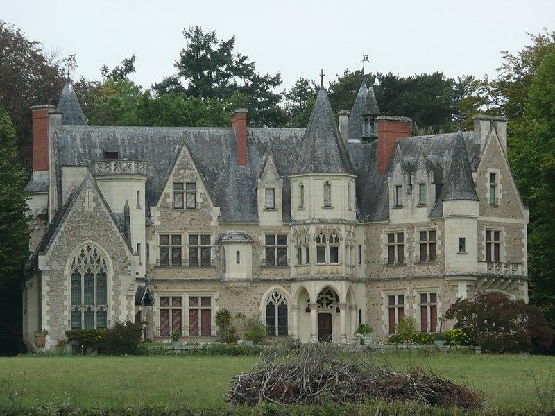 Photo du Monument Historique Château de Montivert situé à Le Vieil-Baugé