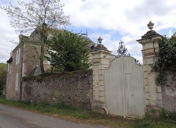 Photo du Monument Historique Domaine de la Noue situé à Mozé-sur-Louet