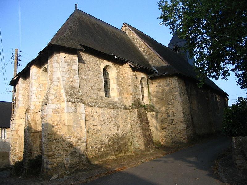 Photo du Monument Historique Ancienne église paroissiale Saint-Germain situé à Daumeray