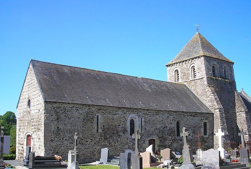 Photo du Monument Historique Eglise situé à La Barre-de-Semilly