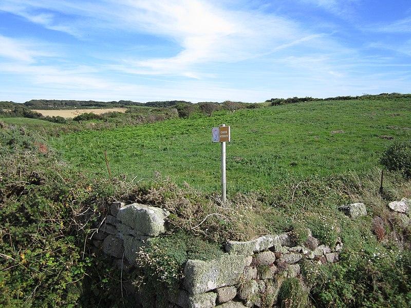 Photo du Monument Historique Camp du Castel situé à Flamanville