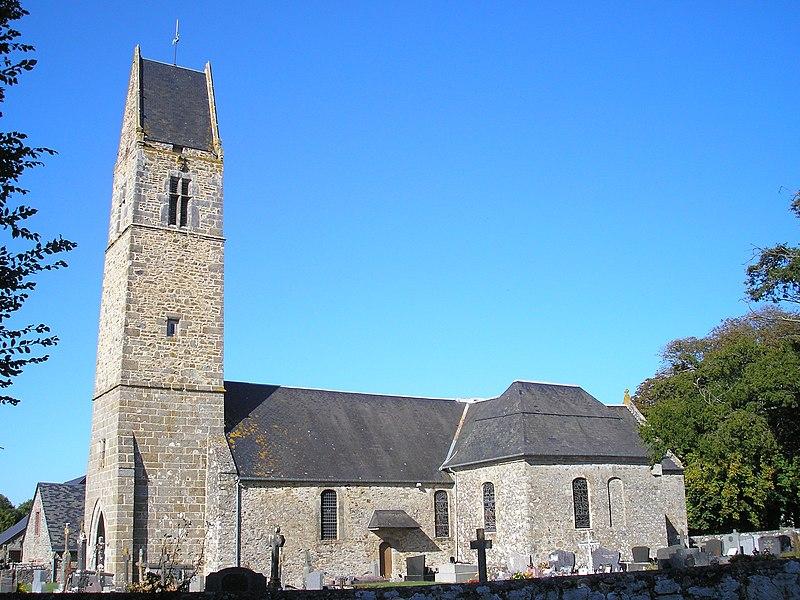 Photo du Monument Historique Eglise et cimetière situé à Gratot
