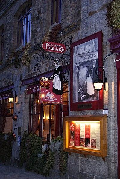 Photo du Monument Historique Hôtel Poulard et terrain (annexe) situé à Le Mont-Saint-Michel