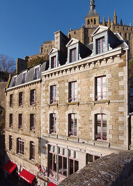 Photo du Monument Historique Hôtel principal des Etablissements Poulard situé à Mont-Saint-Michel (Le)
