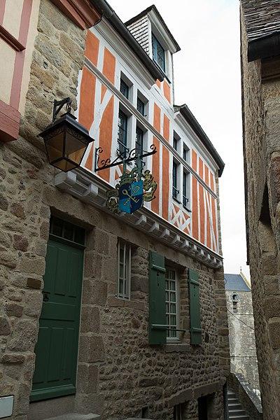 Photo du Monument Historique Maison et jardin du chapeau blanc situé à Mont-Saint-Michel (Le)