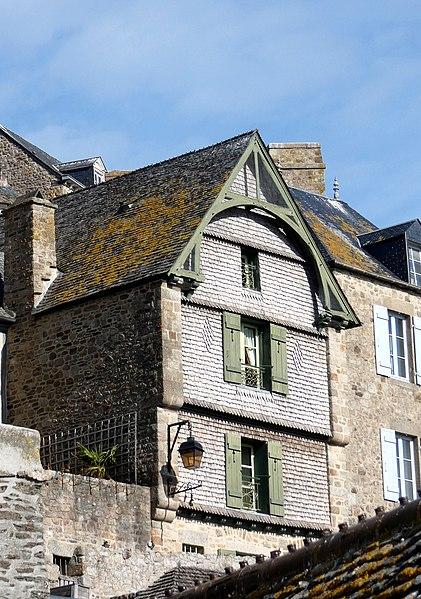Photo du Monument Historique Maisons Ponceau et Eudes situé à Mont-Saint-Michel (Le)