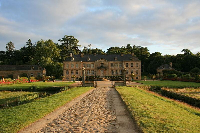 Photo du Monument Historique Domaine du château de Pont-Rilly situé à Négreville