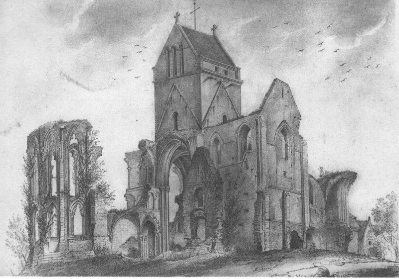 Photo du Monument Historique Ancienne abbaye Sainte-Madeleine-Postel situé à Saint-Sauveur-le-Vicomte