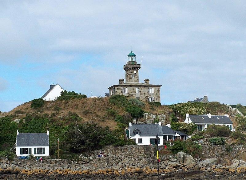 Photo du Monument Historique Phare de Chausey (ou phare des îles Chausey) situé à Granville