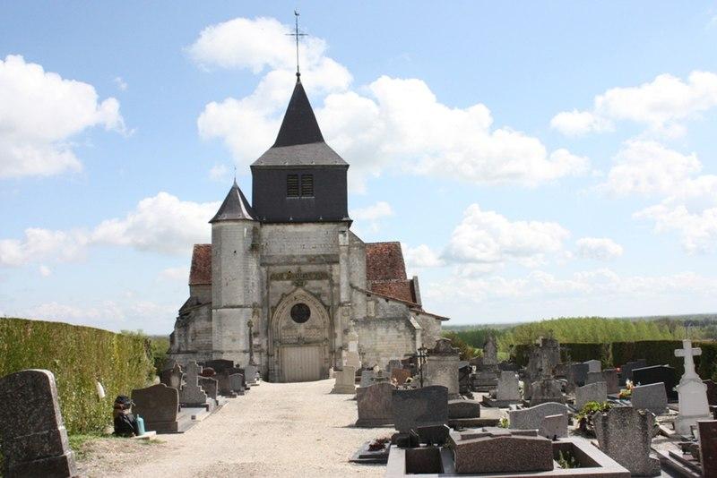Photo du Monument Historique Eglise situé à Arzillières-Neuville