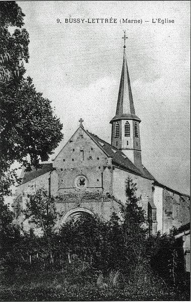 Photo du Monument Historique Eglise Saint-Etienne situé à Bussy-Lettrée