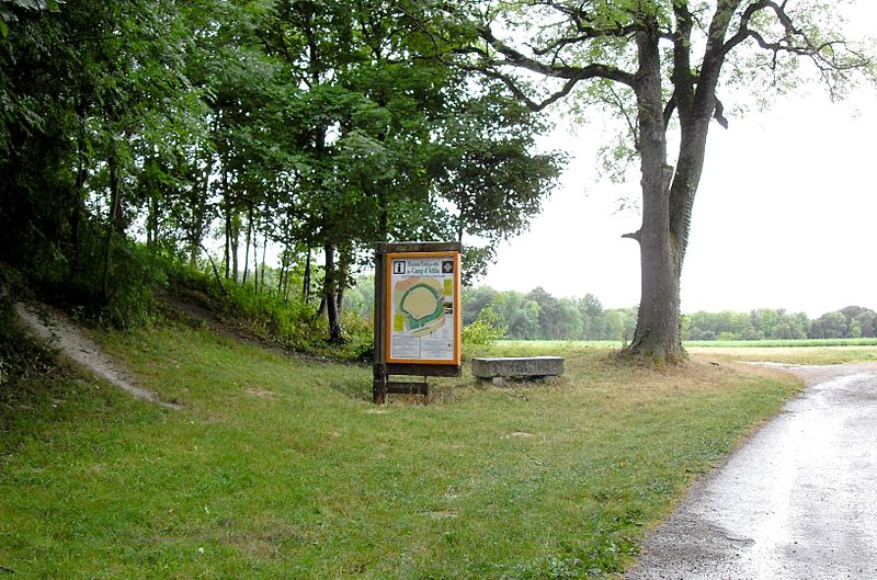 Photo du Monument Historique Camp romain situé à La Cheppe