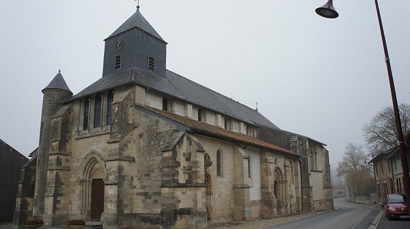 Photo du Monument Historique Eglise Notre-Dame-du-Soldat situé à Hans