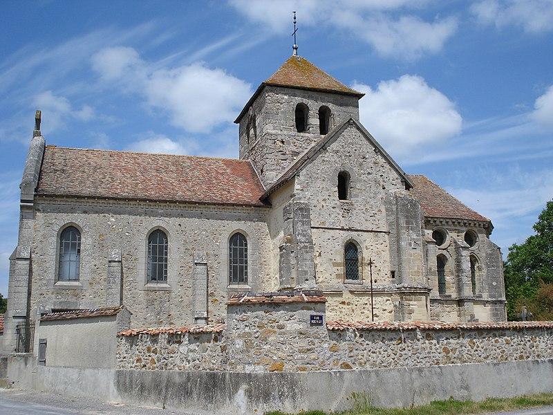 Photo du Monument Historique Eglise de Courmelois situé à Val-de-Vesle