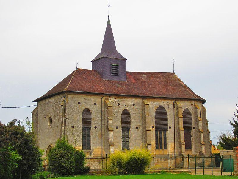 Photo du Monument Historique Eglise situé à Vauclerc