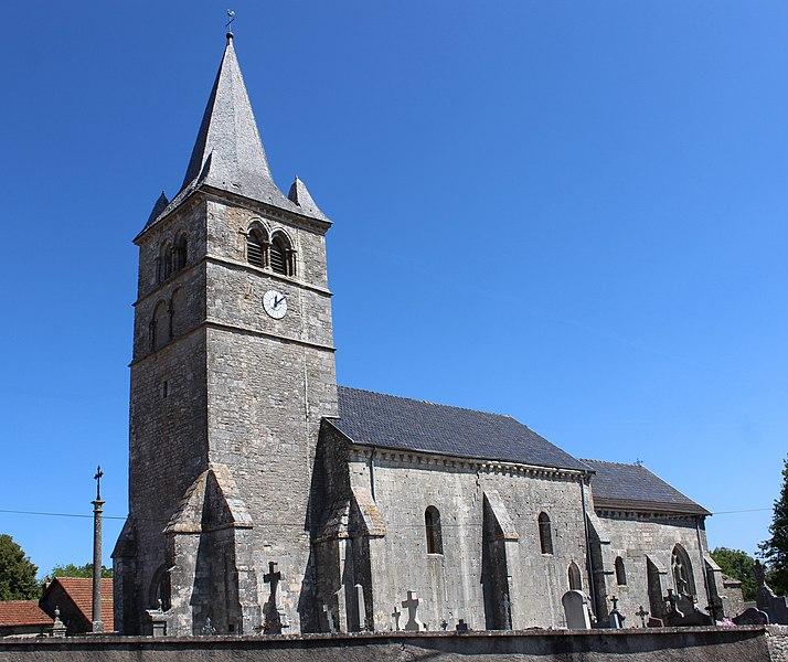 Photo du Monument Historique Eglise de Chassigny situé à Chassigny