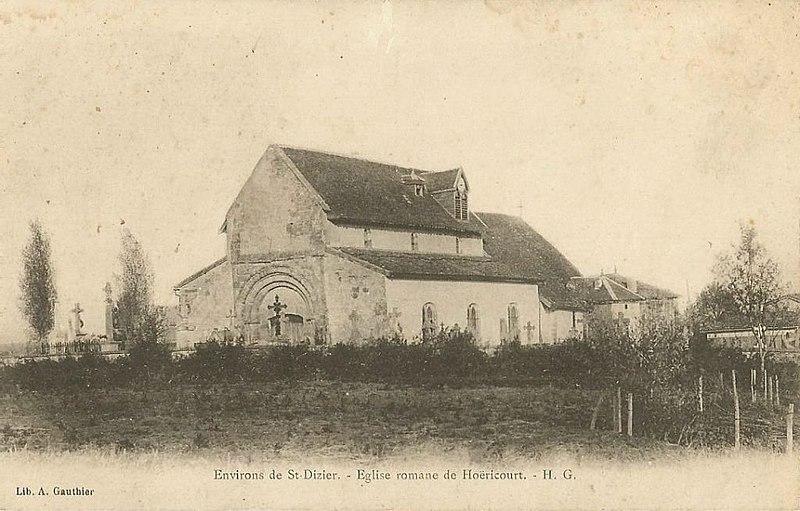 Photo du Monument Historique Eglise d'Hoericourt (vestiges) situé à Saint-Dizier