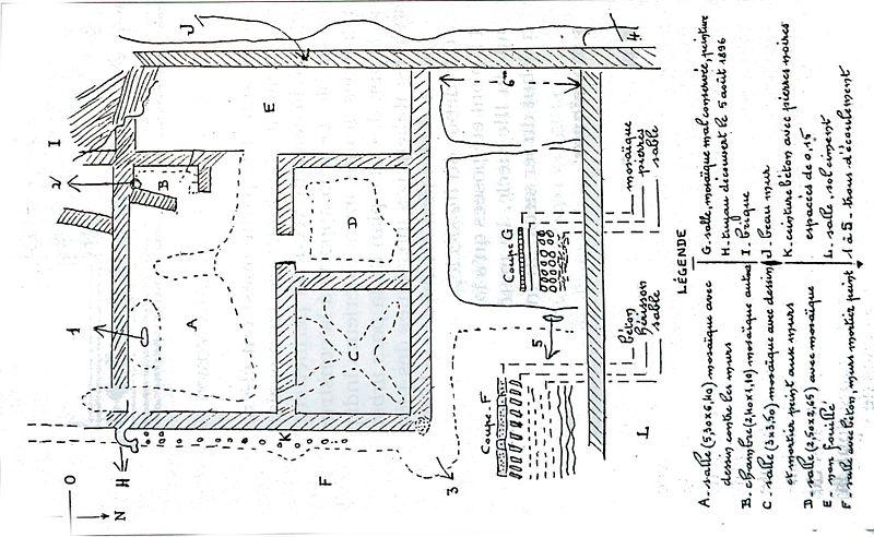 Photo du Monument Historique Villa gallo-romaine (vestiges) situé à Colmier-le-Bas