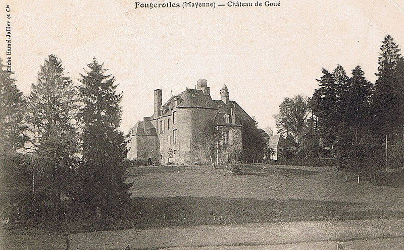 Photo du Monument Historique Château de Goué situé à Fougerolles-du-Plessis