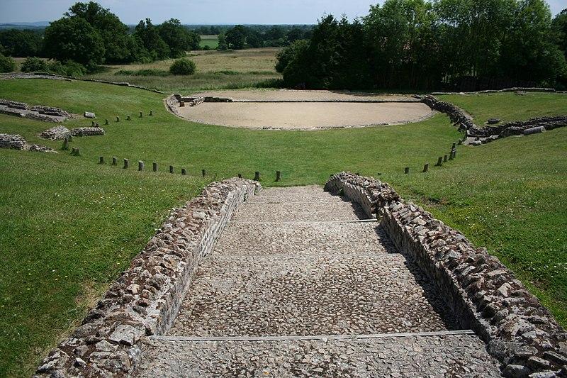 Photo du Monument Historique Théâtre romain (ruines) situé à Jublains