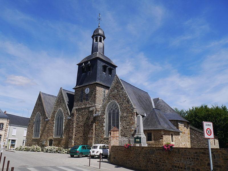 Photo du Monument Historique Eglise situé à Livré
