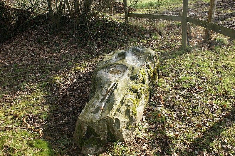 Photo du Monument Historique Polissoir dit La Pierre Saint-Guillaume situé à Montenay