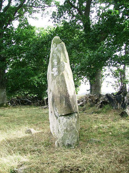 Photo du Monument Historique Menhir de Saint-Civière situé à Le Pas