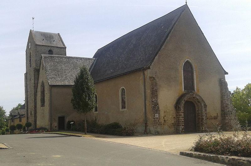 Photo du Monument Historique Eglise paroissiale situé à Saint-Denis-du-Maine