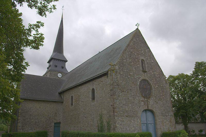Photo du Monument Historique Eglise paroissiale Saint-Blaise situé à Bonchamp-lès-Laval