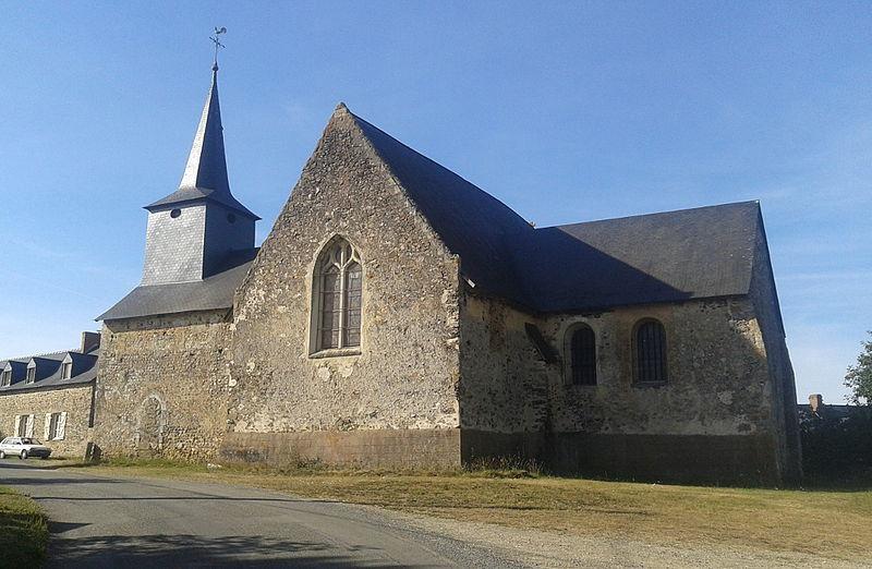 Photo du Monument Historique Ancienne église Saint-Martin de Nuillé situé à Soulgé-sur-Ouette