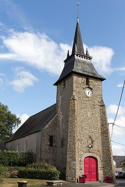 Photo du Monument Historique Eglise Saint-Martin situé à Louvigné