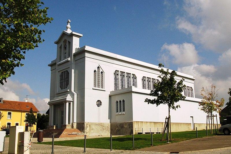 Photo du Monument Historique Eglise Sainte-Barbe situé à Crusnes