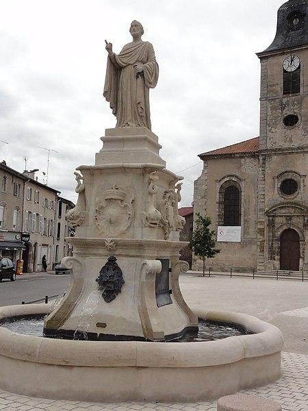 Photo du Monument Historique Fontaine Saint-Pierre situé à Rosières-aux-Salines