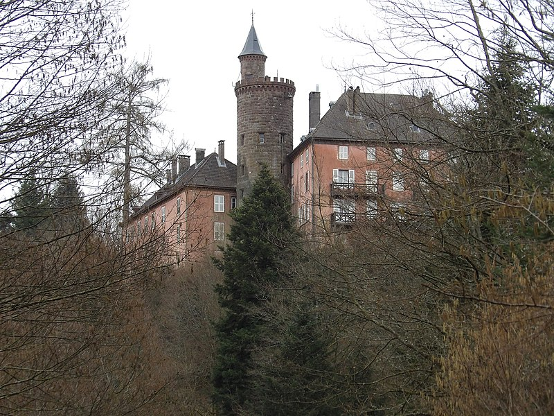 Photo du Monument Historique Domaine du château de Châtillon situé à Val-et-Châtillon