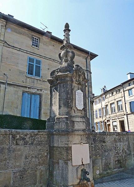 Photo du Monument Historique Fontaine situé à Bar-le-Duc