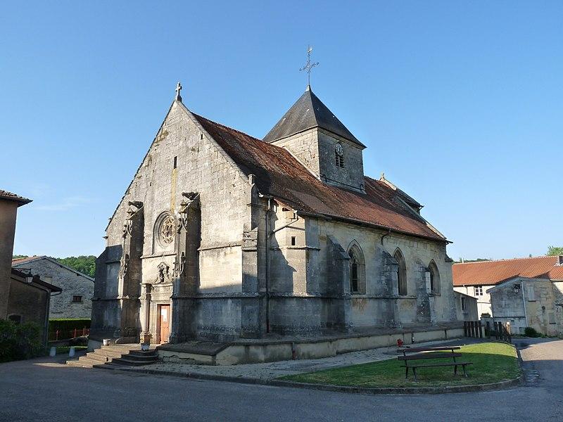 Photo du Monument Historique Eglise situé à Bazincourt-sur-Saulx