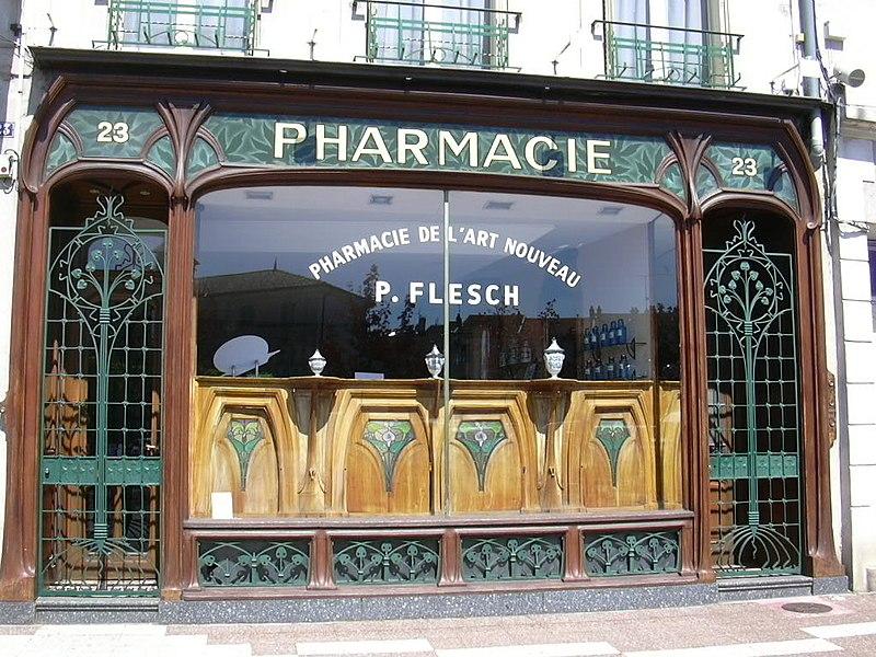 Photo du Monument Historique Pharmacie Malard situé à Commercy