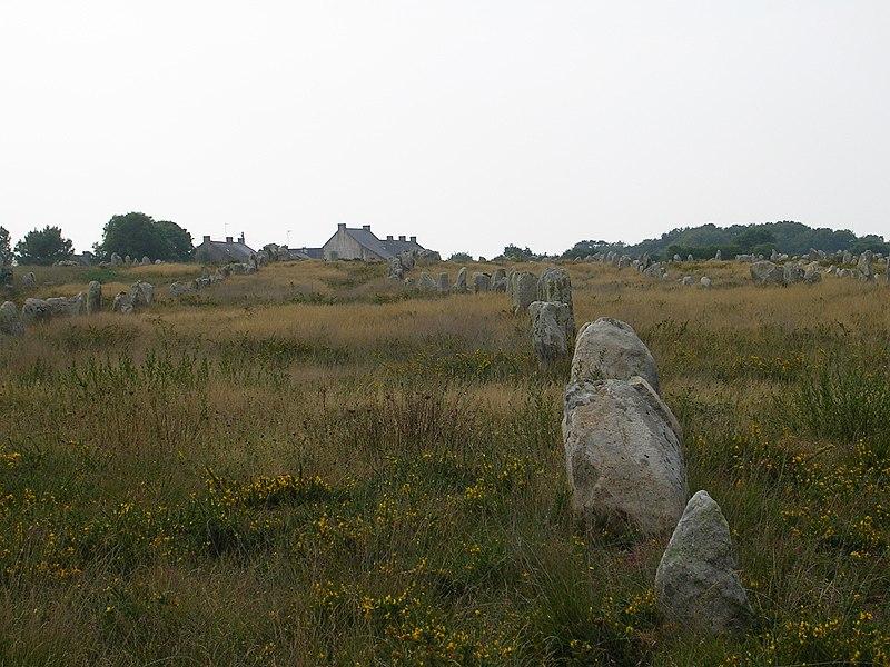 Photo du Monument Historique Six menhirs de l'enceinte du Ménec situé à Carnac